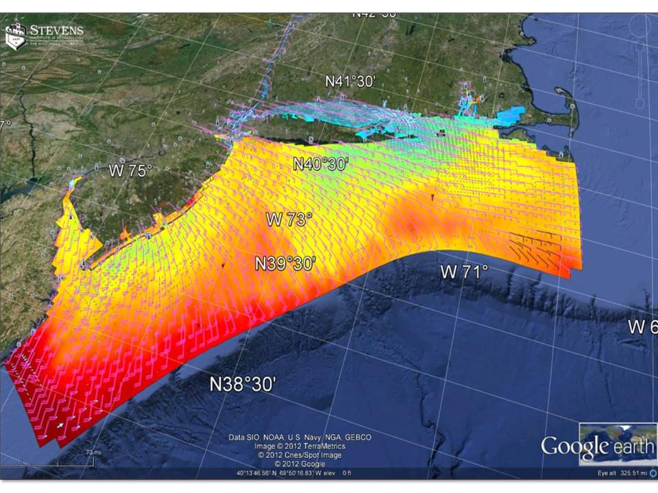 Nyhops 3d Model Domain Showing Simulated Sst Surface Currents And Wind Barbs From